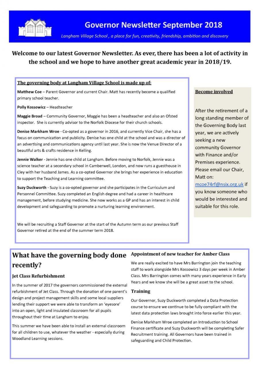thumbnail of Governor Newsletter Autum 2018