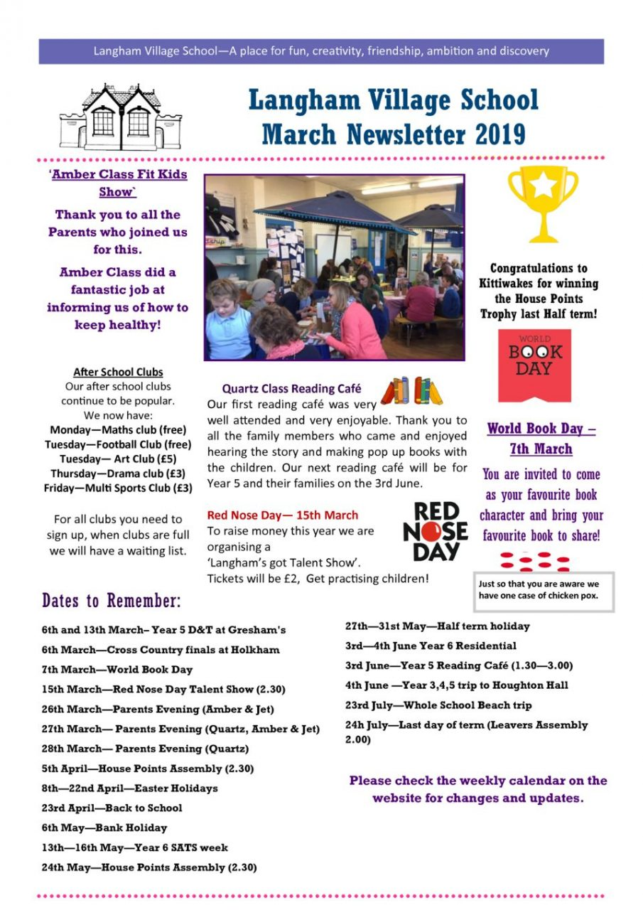 thumbnail of March Newsletter 2019