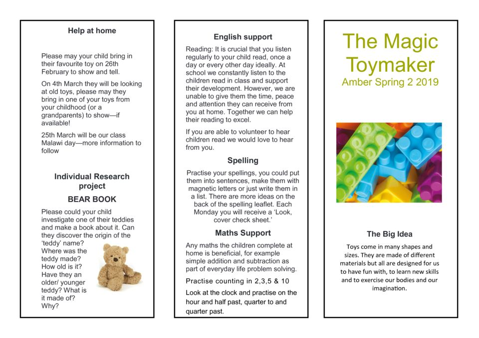 thumbnail of Toymaker Parent Newsletter Amber Class Spring 2 2019