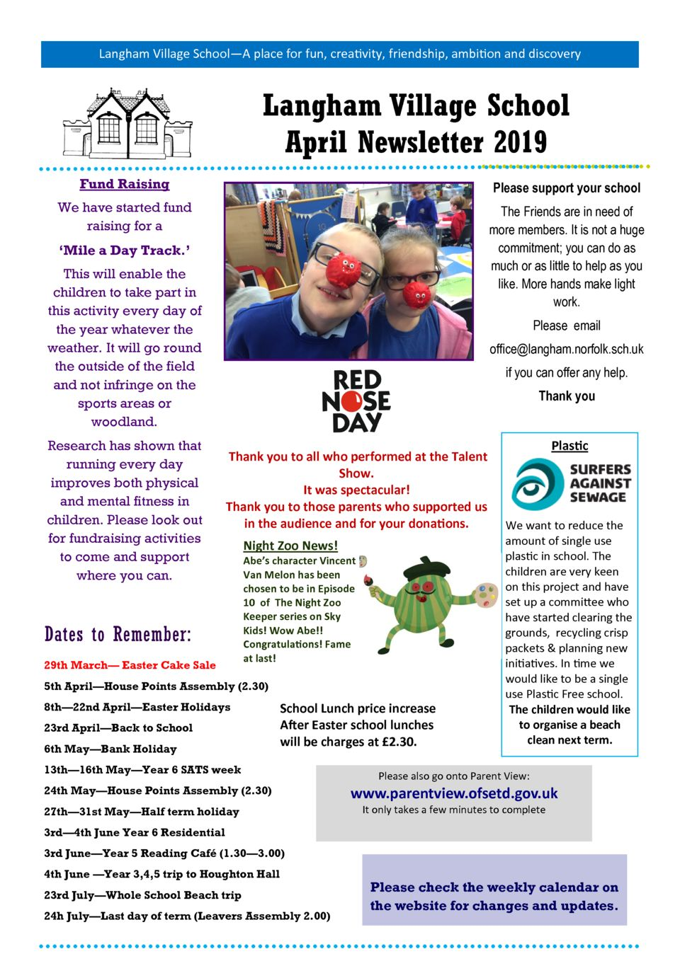 thumbnail of April Newsletter 2019