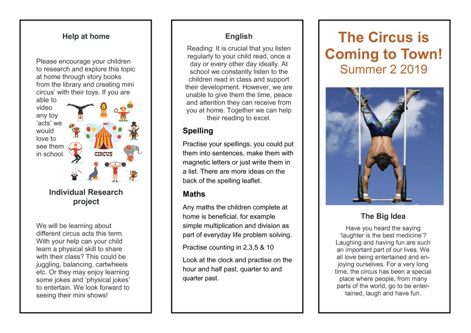 thumbnail of The circus is coming to town Parent Newsletter