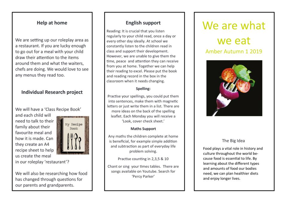 thumbnail of We are what we eat Amber Parent Newsletter