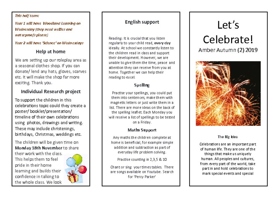 thumbnail of Let's celebrate Amber Parent Newsletter