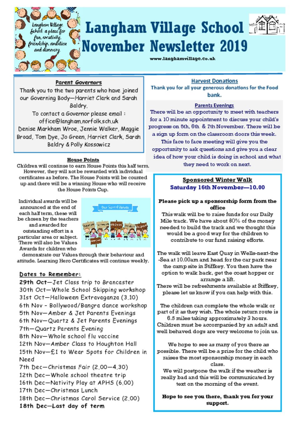 thumbnail of Nov Newsletter 2019